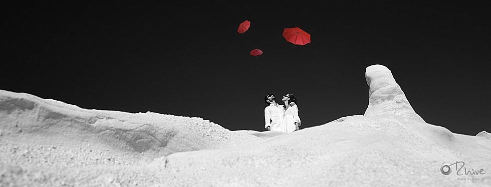 καλλιτεχνική φωτογραφία γάμου μήλος