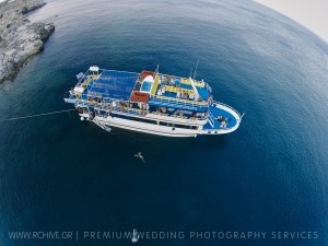 aerial wedding photography greece