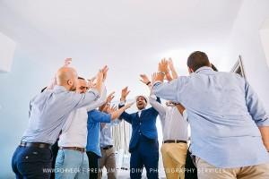 groom fun symi wedding