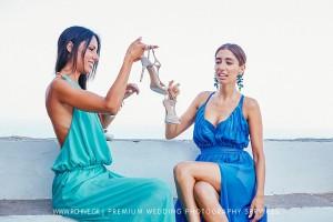 bridesmaids sifnos wedding photographer