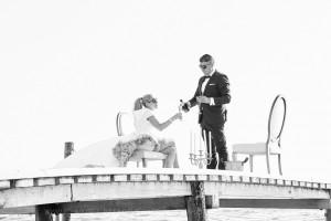 bw wedding photo greece