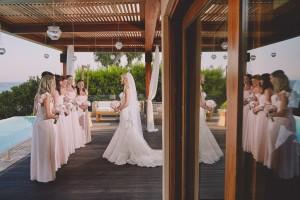 bridesmaids island wedding greece