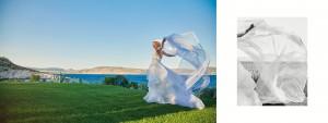 bride wedding dress sea