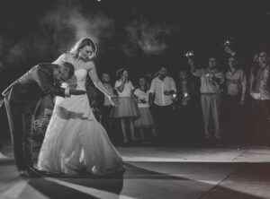 artistic wedding photograph