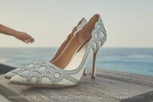 bride's shoes greek photographer