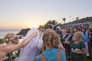 rice throwing wedding ceremony greece