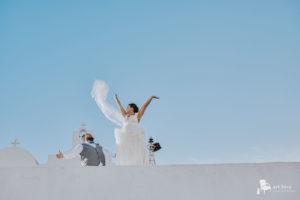 mikonos santorini wedding photographer