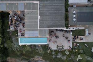 aerial photos island private house