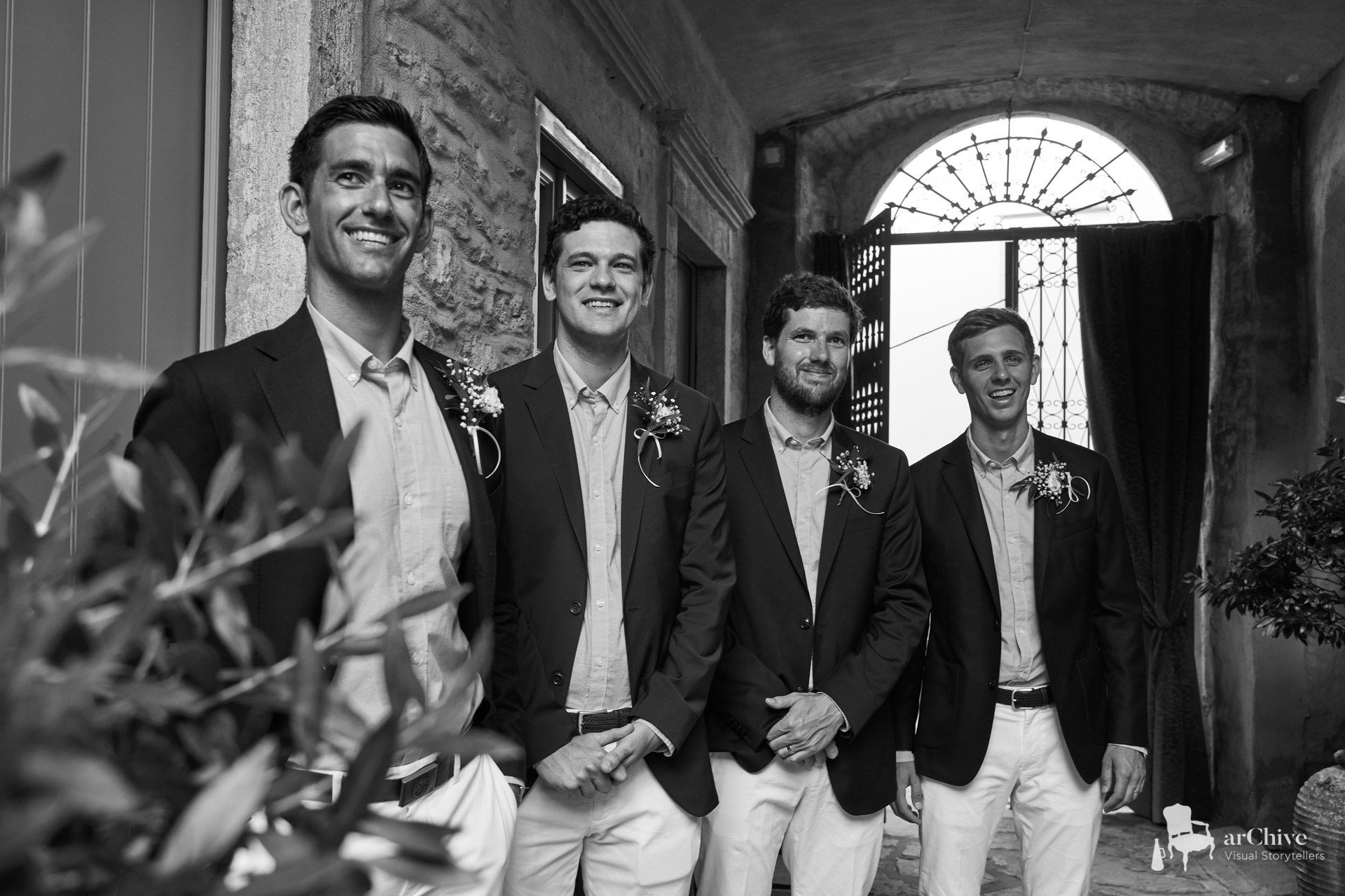 groom's men wedding symi greece