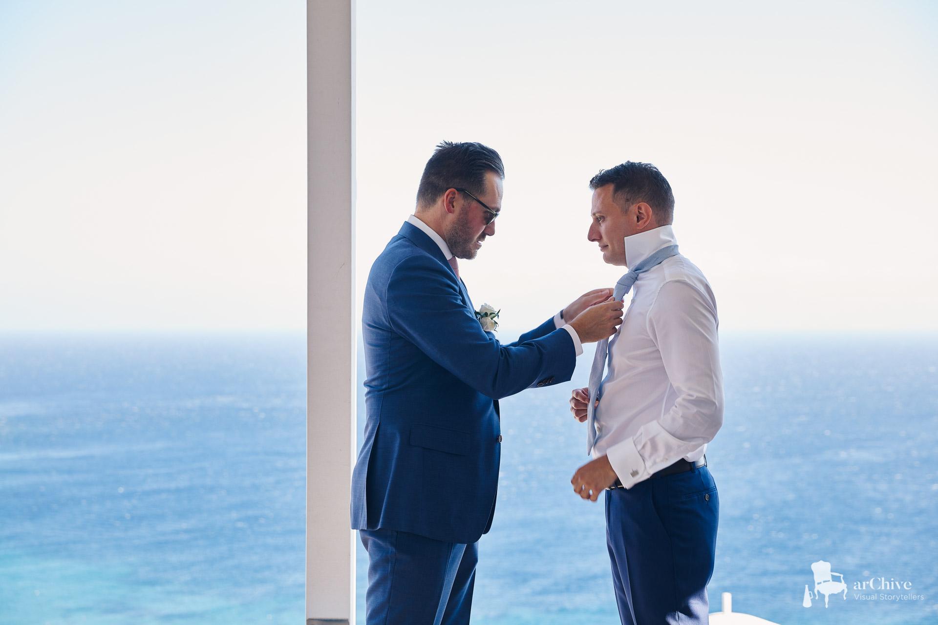 mykonos villa wedding