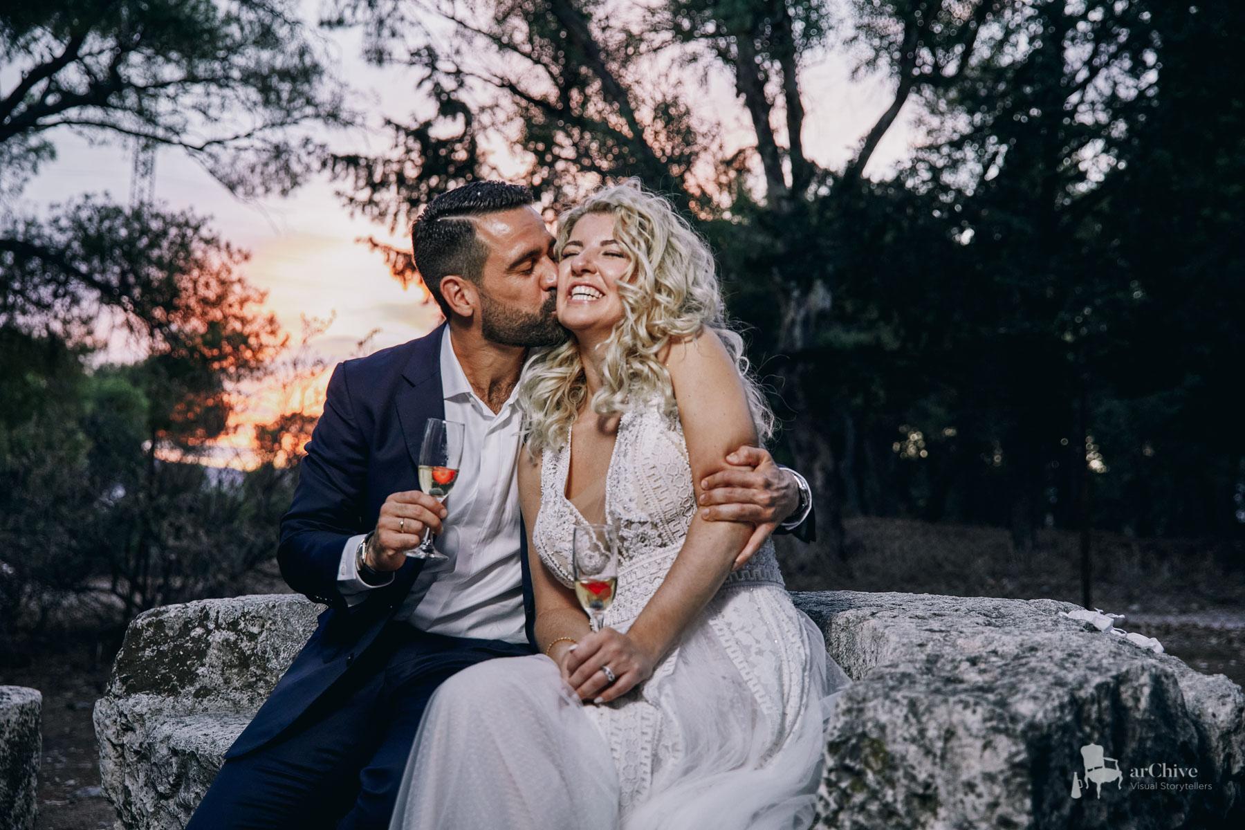 wedding photographer agios pavlos Tritsis Park